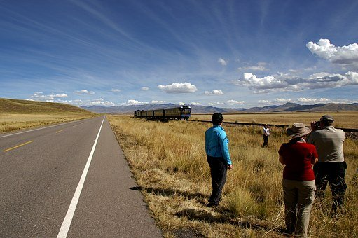 Peru, Plateau, Cusco, Sky, Wide, Train, Perurail