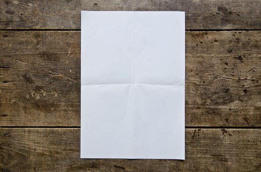 Blank Poster, Wooden Table, White, Blank, Wood, Wooden