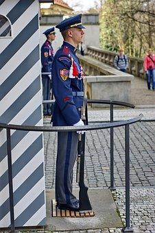 Sentinel, Guard, Prague, Praha, Attraction, Vacation