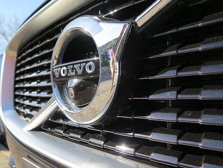 Auto, Black, Logo, Camera, Front Spoiler, Volvo