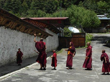 Bhutan, Monks, Buddhism, Monastery