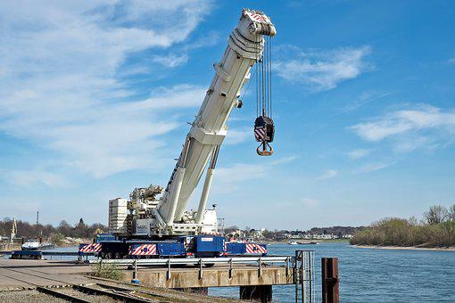 Vehicle, Crane, Machine, Baukran, Build, Site