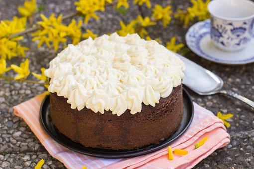 Cake, Chocolate, Cream, Whipped Cream, Eggnog Cream