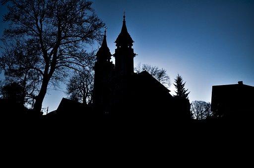 Church, Linz, Shadow, Contour