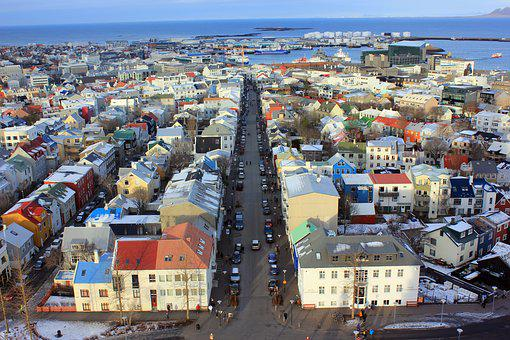 City, Iceland, Colour, Europe, Travel, Architecture