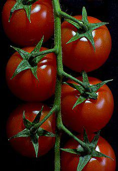 Tomatoes, Vegetables, Red, Macro, Food, Datailaufnahme