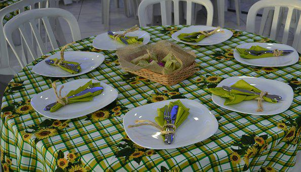 Table, Decoration, Dinner, Cutlery, Dishes