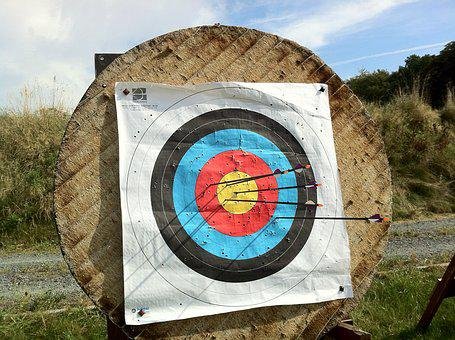 Archery, Bogensport, Target, Arrows, Arch, Hits, White