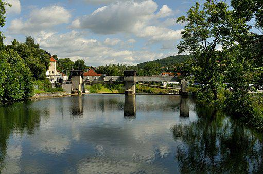 Nagold, Barrage, Water, Landscape