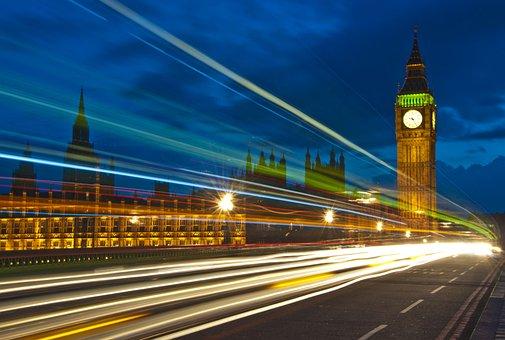 Big Ben, Houses Of Parliament, Night, Long Exposure