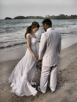 Wedding, Pair, Marry, Love, Romance, Bride And Groom