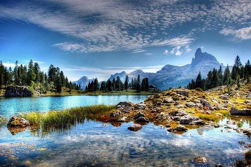 Lago Federa, Dolomites, Mountains, Belluno, Nature