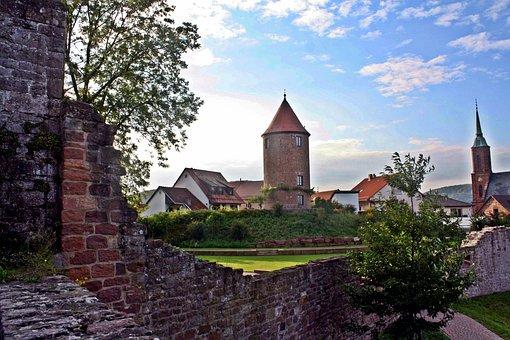 Fairytale, Hike, Neckar, Odenwald, Fortress, Castle