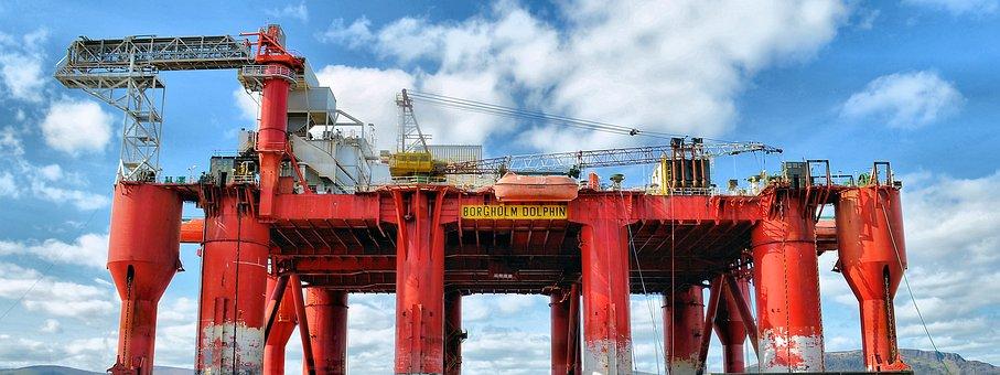 Oil Rig, Oil Platform, Oil, Rig, Repairs, Oil Rigs