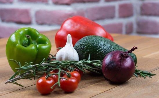 Garlic, Tomatoes, Pepper, Onion, Food, Healthy