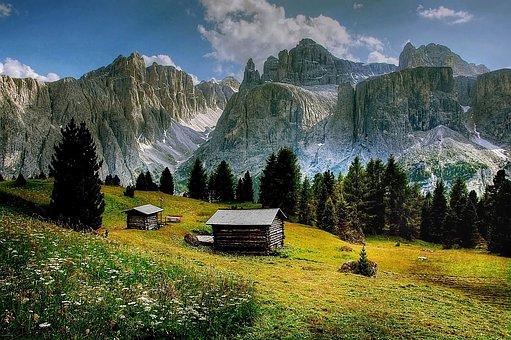 Val De Mesdi, Dolomites, Mountains, South Tyrol, Alpine