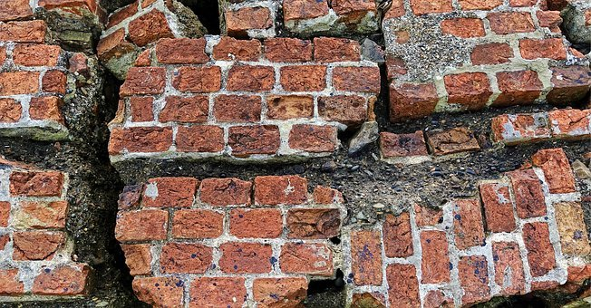 Brick, Brickwork, Ruin, Broken, Decay, Collapse, Wall