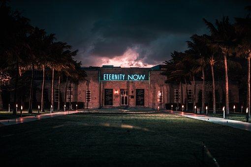 Building, Lights, Words, Typography, Afterlife, Heaven
