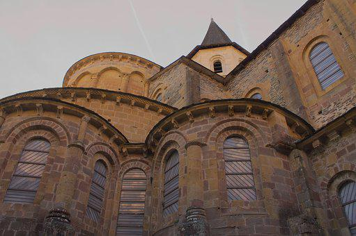 Abbey, Conques, Aveyron, Bell Tower