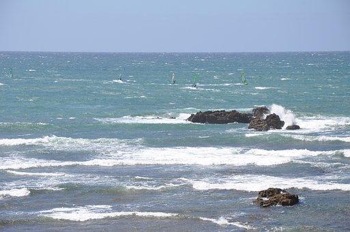 Ericeira, Mar, Beach, Agua, Beira Mar, Rocks, Surfer