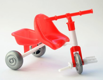 Bike, Toy, Great, Red, Transport