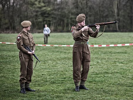 Re-enactors, British, Liberation, Allies, Military