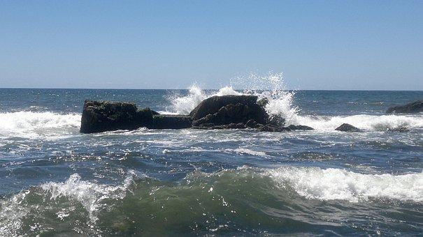 Waves, Sea, Beach, Sand, Costa, Ocean, Rocks, Landscape