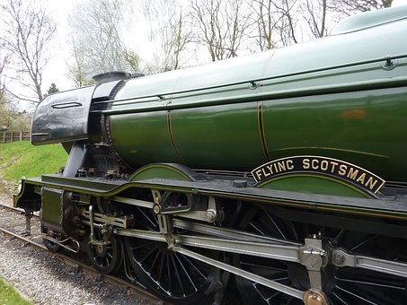 Train, Flying Scotsman, Steam, Engine, Transport