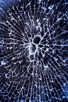 Broken Glass, Shattered, Glass, Broken, Window, Crack