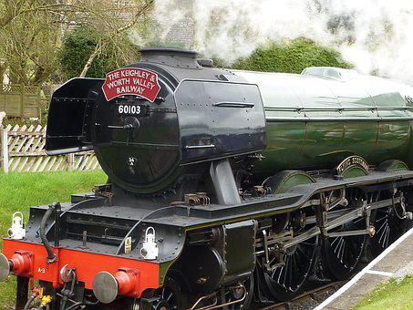 Train, Flying Scotsman, Steam, Engine, Locomotive