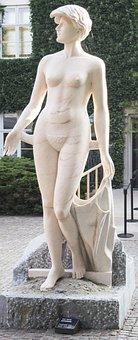 Denmark, Statue, Louisiana, Woman