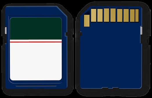 Sd Card, Memory, Card, Blue, Multimedia, Store, Byte