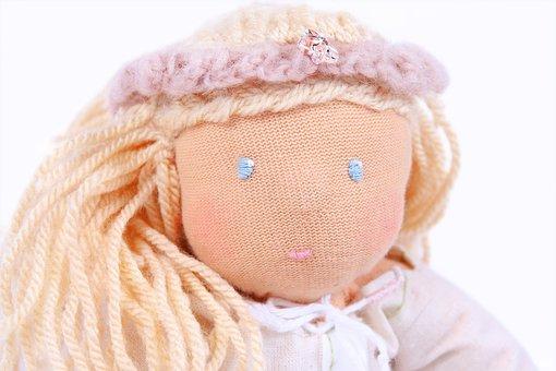 Doll, Waldorf, Rag Doll, Toys, Sewn, Hand Labor