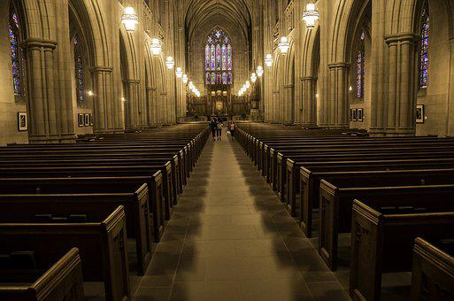 Chapel, Religion, Cathedral, Duke Chapel, Lights, Pews