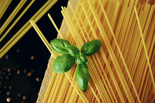 Spaghetti, Basil, Noodles, Pasta, Italian