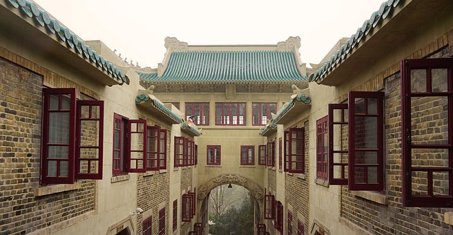 Wuhan University, Dorm Room, Spring, China