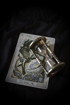 Tarot, Death, Egg Timer, Magic, Fortune, Symbol, Future