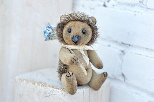 Soft Toy, Hedgehog, Their Hands, Creativity