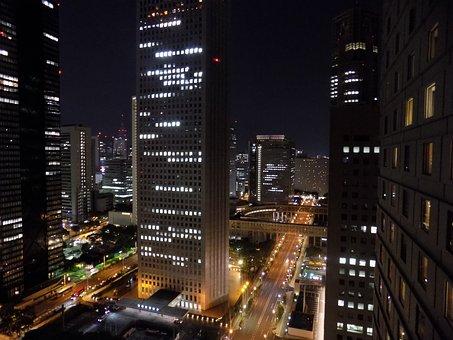 Shinjuku, Tokyo, Japan, City Scape, City Lights