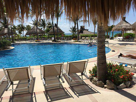 Cancun, Ocean, Pool, Beach, Peaceful, Solitude, Swim
