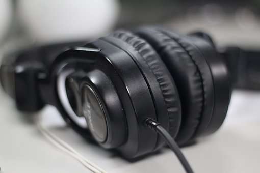 Headphones, Black, Headset
