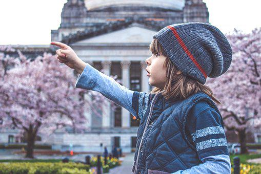 Boy, Kid, Child, Cute, Spring, Bloom, Blossom, Capitol