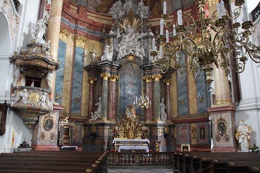 Nysa Kłodzka, Church, The Interior Of The, Barok