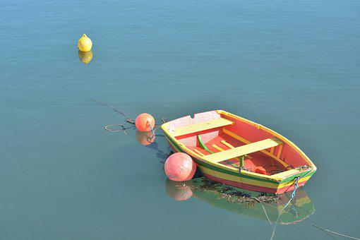 Boat, Colors, Calm, Water, Lake, Pond, Fishing, Browse