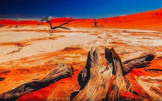 Namibia, Africa, Landscape, Desert, Mountains, Valley