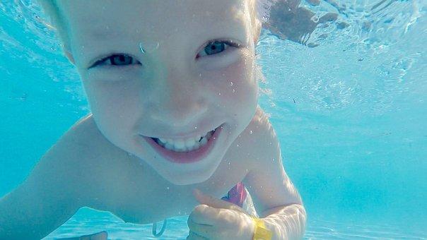 Children, Swim, Dive, Summer, Pol, Holiday, Sweden