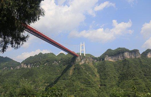 Dwarf Walled Bridge, Dwarf Village, Suspension Bridge