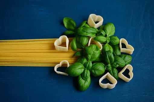 Spaghetti, Noodles, Pasta, Basil, Italian, Eat, Food