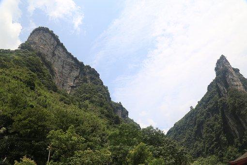 Mountain, In Western Hunan, The Vast, Look Up, Sky