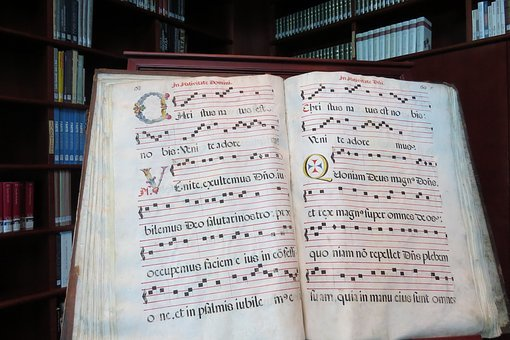 Latin, Book, Calligraphic, Writing, Psalms, Prayer, Old